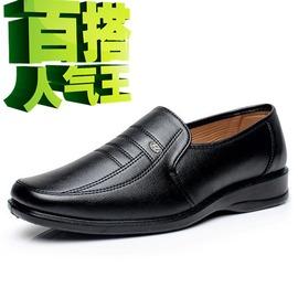 高幫棉鞋 黑色38酒店發廊日常工作男皮鞋男士黑色低幫男款商務 皮鞋男鞋面試鞋