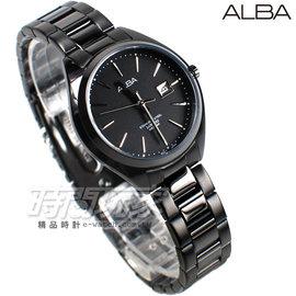 ALBA雅柏 劉以豪代言 簡約城市 IP黑電鍍 不�袗�帶 女錶 AH7L25X1~VJ2