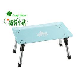 大林小草~【73189022】日本 LOGOS 粉彩個人桌(藍)