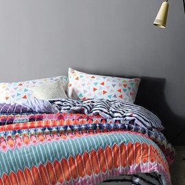 ~PAINT~北歐風格,藝術殿堂,精梳棉,雙人加大床包,兩用薄被套四件組 A0102091