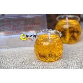 佛教酥油蠟燭供佛佛堂供燈財神燈供佛燈果凍供燈水晶燈酥油燈黃色