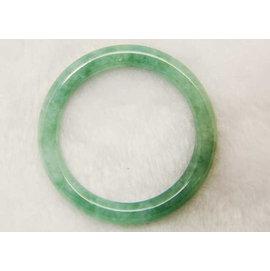 □~Disk的天然水晶~□~纖細柔美~老坑種滿綠翡翠圓條手鐲 條鐲 BJ30~A貨專賣