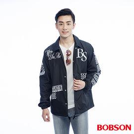 ~BOBSON~男款寬版印圖外套^(26001~88^)