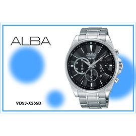 ~時間道~ むALBA~錶め劉以豪代言 玩轉新世代三眼計時腕錶 黑面 ^(VD53~X25
