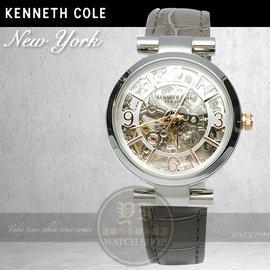 Kenneth Cole國際品牌復古鏤空機械腕錶KC10027309 貨