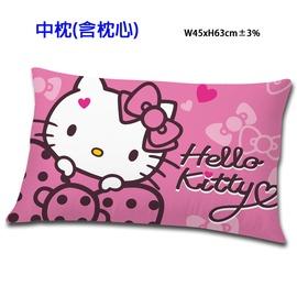 HELLO KITY 蝴蝶結甜心系列~中枕^(粉^)^(紅^) 三麗鷗