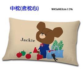 小熊學校 讀書樂系列~中枕 卡其  綠  三貝多