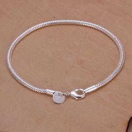外貿 銀飾 女士  鍍925銀蛇骨手鏈 S187