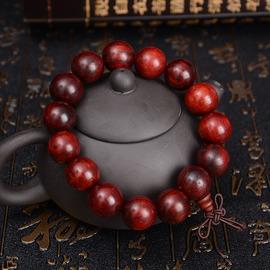 15MM檀香木 紅酸枝木手鏈手串男士女款花梨木手鏈飾品佛珠轉運飾品