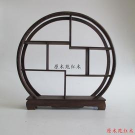 小圓多寶架打折 紅木工藝品雞翅木小圓多寶格博古架展示架飾品家飾擺件
