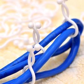 大小號彎曲繞線帶 理線器~~30枚裝網線電源線束帶 綁繩子用具