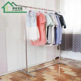 尊貴款dggc:c01滑輪晾衣架落地單桿式不�袗�加厚陽臺室內外簡易組裝置物移動晾曬衣架