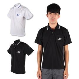 MIZUNO 男短袖POLO衫(免運 短T 高爾夫球 立領【03320733】≡排汗專家≡