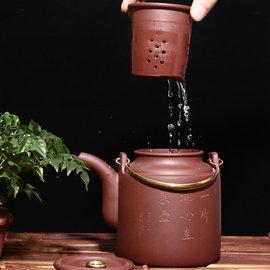 5Cgo ~ 七天交貨~45639228087 宜興原礦大容量紫砂壺大茶壺提梁茶壺過濾帶內