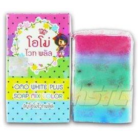 泰國 Omo White Plus 草本繽紛彩虹皂 Soap Mix Color 65g