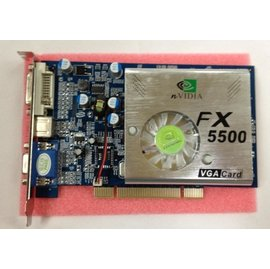 nVIDIA GF5500 FX5500 256M 128 bit PCI 全固態 顯卡/顯示卡 (DVI+VGA)