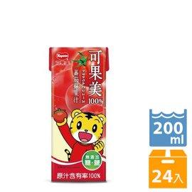 可果美蕃果園 100^%蕃茄蘋果汁200ml~24入