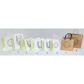 ~1768 網~大6K~L^(方^) 花語鳥 白色手提袋~圖6~紙繩加底板~10入 包 ^