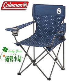 大林小草~【CM-26736】美國Coleman 海軍藍度假休閒摺疊椅、休閒椅、扶手折疊椅、.導演椅-【國旅卡特約店】
