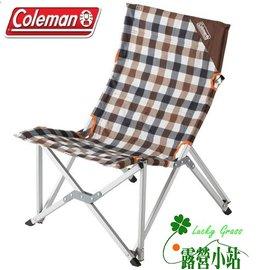 大林小草~【CM-26564】Coleman 棕格紋樂活椅、休閒椅、高背椅、限量款-【國旅卡特約店】