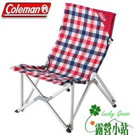 大林小草~【CM-26563】Coleman 紅格紋樂活椅、休閒椅、高背椅、限量款-【國旅卡特約店】