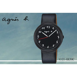 ~時間道~むagnes b~錶め法式簡約 風情腕錶 黑面黑殼黑皮^(VJ21~KK50C