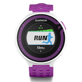 GARMIN Forerunner 220 進階級跑步腕錶 紫白 ~簡配無心率感測器 水深