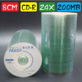 8CM CD~R 24X  200MB 21MIN 燒錄片 證照光碟 小光碟 100片