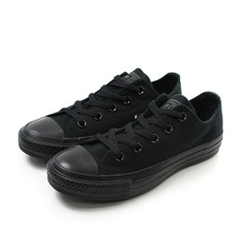 CONVERSE CHUCK TAYLOR ALL STAR 全黑低筒 帆布鞋 男女款 M