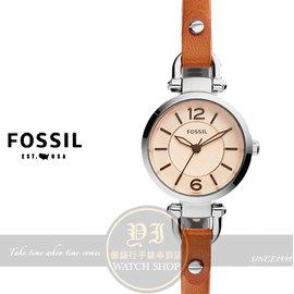 FOSSIL美國品牌Georgia優雅淑女皮帶腕錶ES4025 貨
