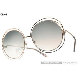 Chloe 太陽眼鏡 CL114S 734  金~漸層藍   廣告款 金屬大圓框 墨鏡 #