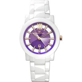 ~時間道 ~〔Max Max~錶〕 簍空 美學陶瓷腕錶  葡萄紫面白陶 ^(MAS5080