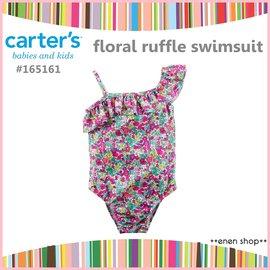 enen shop  Carter s 亮色小碎花款斜肩連身式泳裝 泳衣 ^#165161