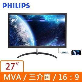 ~DB ~飛利浦 PHILIPS 279X6QJSW 27吋 MVA 曲面 液晶顯示器^(