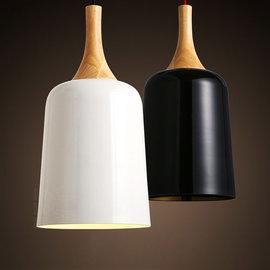 5Cgo~ 七天交貨~45076064674 北歐 客廳餐廳黑白色單頭吊燈 飯廳廚房臥室鐵