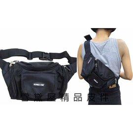 ^~雪黛屋^~POWER~ONE 屁股包腰包小型容量胸前包斜側包外出休閒工作隨身物品包防水