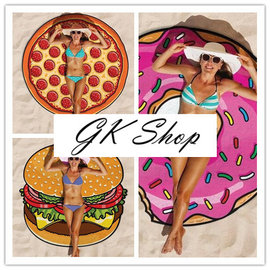 G K SHOP 海灘巾 沙灘巾 野餐墊 鋪巾 海邊戲水 野餐墊 小蓋墊 空調墊 Pizz