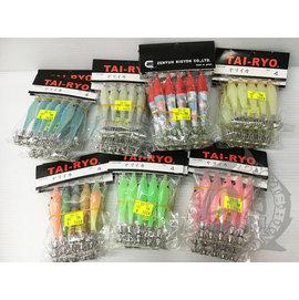 ◎百有釣具◎EF展鷹 TAI-RYO TR果凍布捲 4寸 透抽專用 顏色隨機出貨