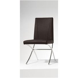 ~GC889~6~淺野不鏽鋼黑色皮餐椅^(座深41.5座高48CM^)