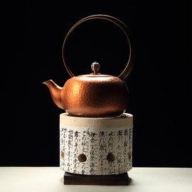 5Cgo ~ 七天交貨~525527579802 茶道白泥炭爐泥爐煮茶爐風爐小炭爐 鐵壺銅