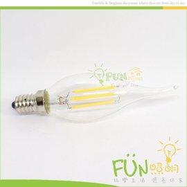 Fun照明 LED E14 4W 全周光 黃光 仿鎢絲燈泡 取代傳統鎢絲燈泡   1W