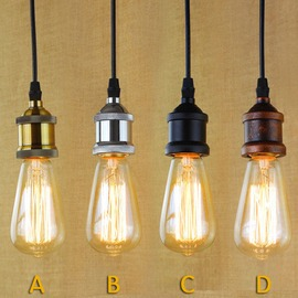 工業復古風 簡易金屬 吊燈 E27燈座 容易 濃濃復古風 酒吧 餐廳 居家 自己來^( 不