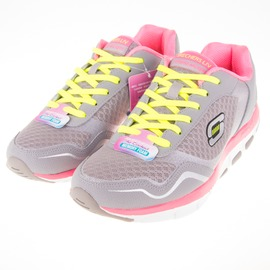 Skechers  (女) 跑步系列 智慧生活 女款健走鞋-灰/粉 57051GYPK