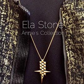 安妮的收藏~Ela Stone 小金字塔鉚釘長鍊