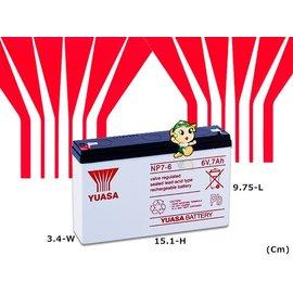 ☼ 台中苙翔電池 ►YUASA 湯淺電池 ^(NP7~6 6V7AH^) 6V電池 磅秤