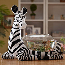 5Cgo ~ 七天交貨~35590824358 斑馬小魚缸圓形水族箱桌面魚缸小型迷你烏龜缸