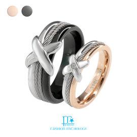 • FM Jewelry • 神秘細索 情人款對戒 316L白鋼 戒指