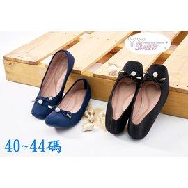 ~^(^( 丫 丫 Sweety ^)^) ~~大 女鞋~ 水晶球 低跟鞋40~44^(D