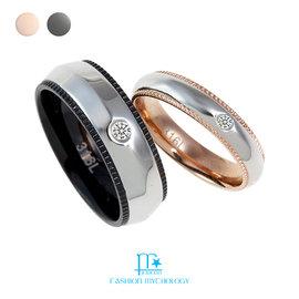 • FM Jewelry • 點點細語 情人款對戒 316L白鋼 戒指