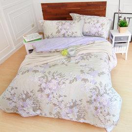 床包組 雙人特大~純棉兩用被套床包組 ikea風格 浪漫主義^~鴻宇^~~ML1356